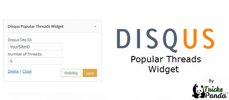Disqus Popular Threads Widget