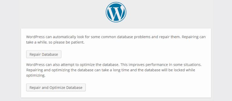 How To Repair And Optimize WordPress Database