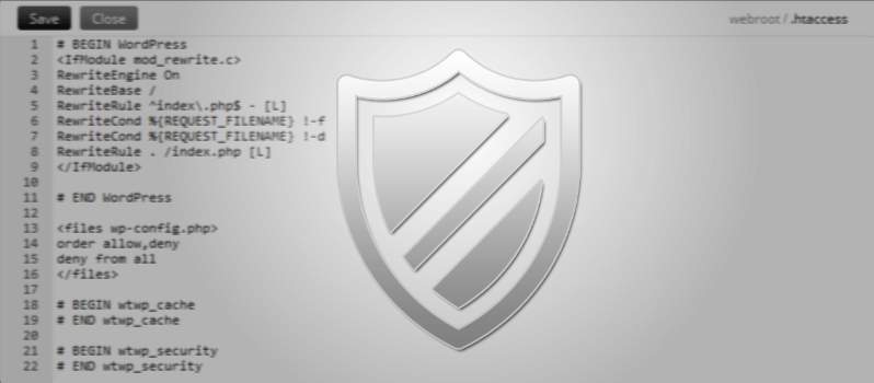 How To Protect wp-config.php File With .htaccess
