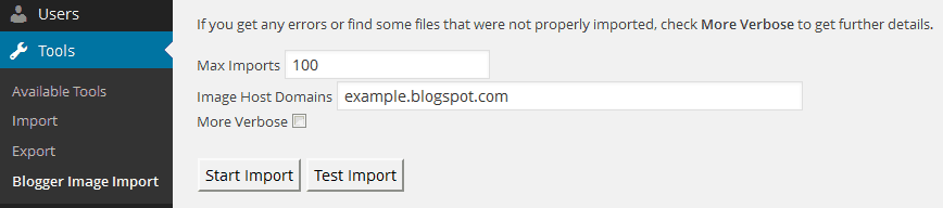 Blogger Image Import