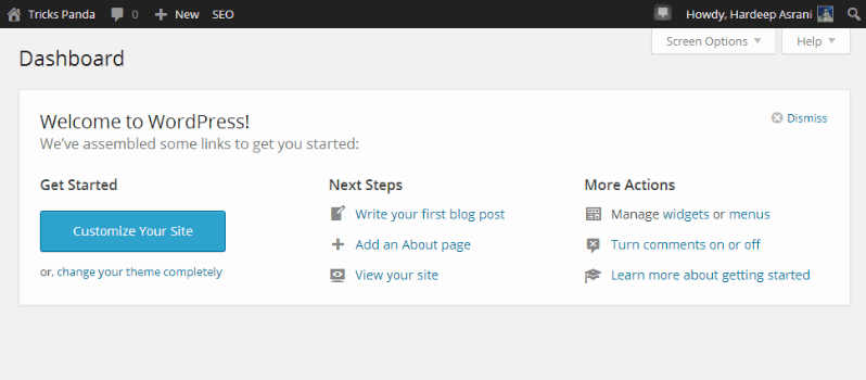 How To Remove Welcome Panel From WordPress Dashboard