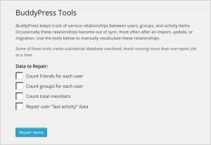 BuddyPress Repair Tools