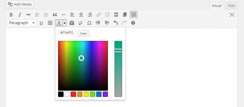 How To Bring Back Color Picker In WordPress 3.9