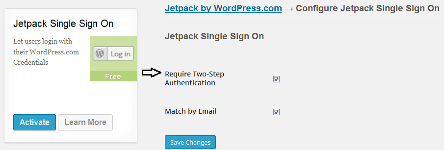 Jetpack Single Sign On