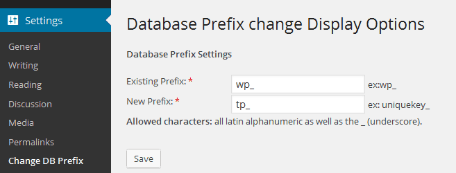 Change WordPress Database