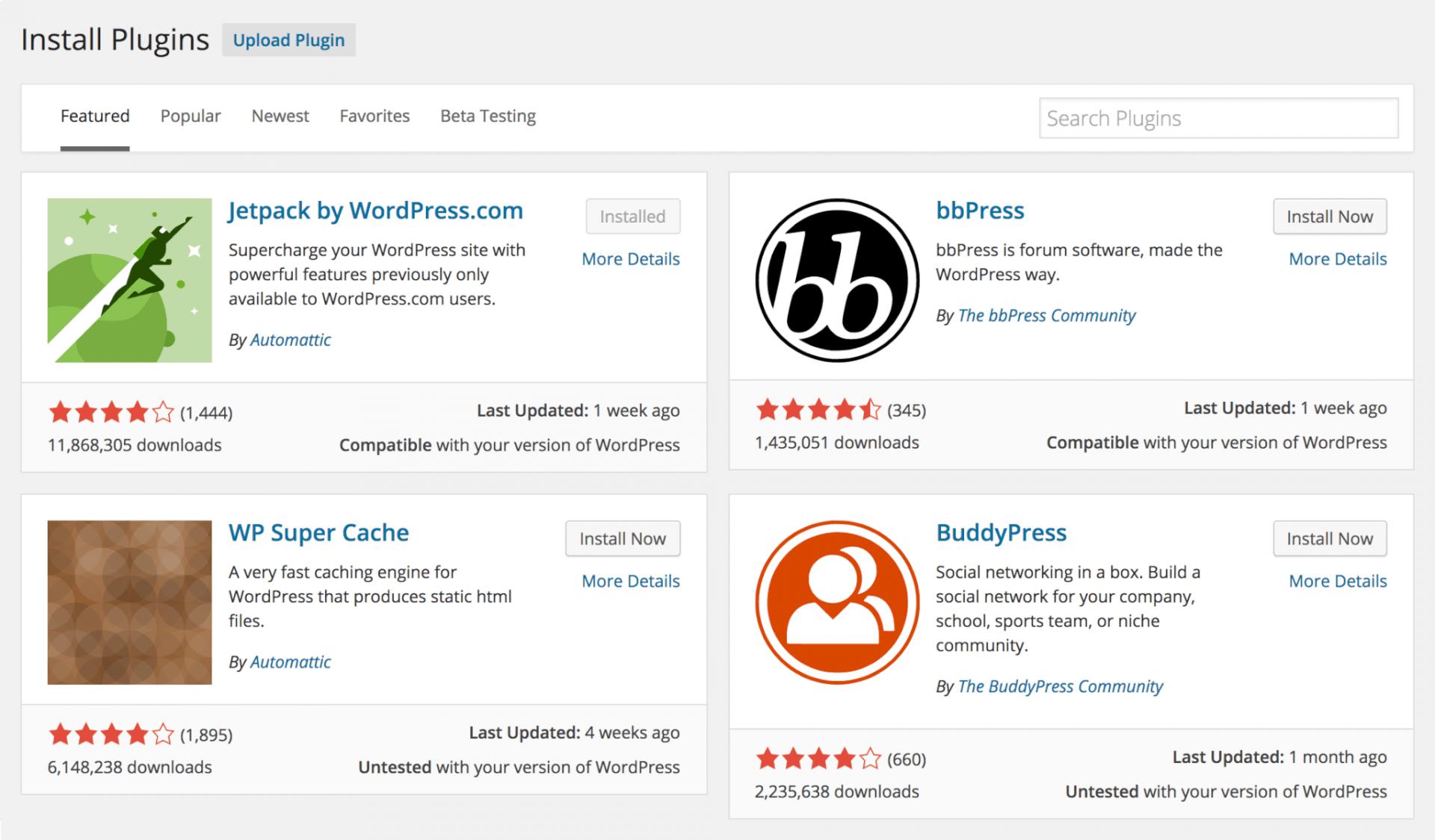 WordPress 4.0 Plugin Installer